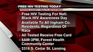 Free HIV testing today