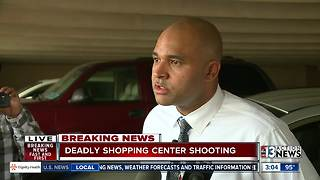Police discuss deadly shooting at Las Vegas Boulevard shopping center - Video