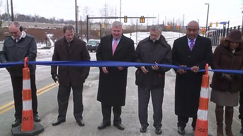 City officials cut ribbon on 'Opportunity Corridor Section 2' near E.105th St.
