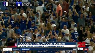 A win tonight could take the Dodgers to the World Series - Video