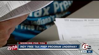 Indy free tax prep program available to households making less than $66,000 in income - Video