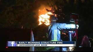 Fireworks listed as preliminary cause of Boise apartment fire - Video
