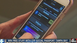 Win free stuff with CFP Social Passport Tampa Bay - Video