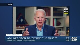 "Fact Check: Ad links Biden to ""Defund the police"""