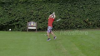 "Briton sets new Guinness World Record for the ""fastest hole of golf"" - Video"