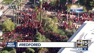 Protesters gather at state capitol calling for higher teacher pay - Video