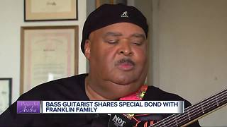 Local bass guitarist shares special bond with Franklin family - Video