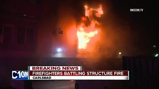 Residents forced to flee Carlsbad apartment fire