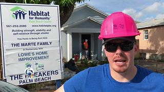Building a Habitat for Humanity house is fun - Video