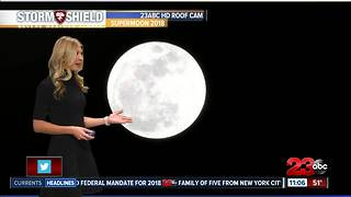 January 1, 2018 Supermoon - Video