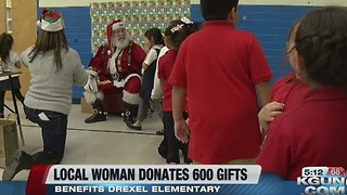 A local salon owner raises money to bring 600 Drexel Elementary students gifts this holiday season - Video