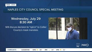 Naples City Council holds meeting to discuss masks