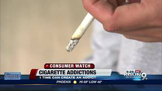 One cigarette can lead to addiction according to study - Video
