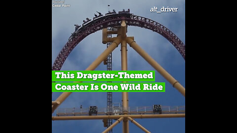 This Dragster-Themed Coaster Goes Is One Wild Ride