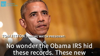 New IRS Documents Confirm IRS Inappropriately Targeted Tea Party Groups Under President Obama - Video