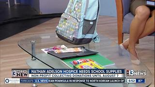Nathan Adelson Hospice collecting school supplies for families - Video