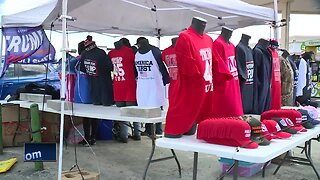 Supporters prepare for presidential visit