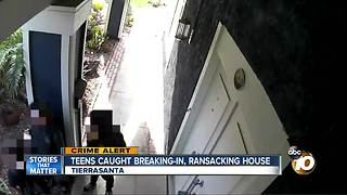 Teens caught breaking-in, ransacking house - Video