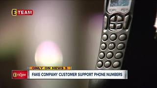 Fake company customer support numbers - Video
