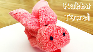 DIY towel art: How to make a cute bunny rabbit