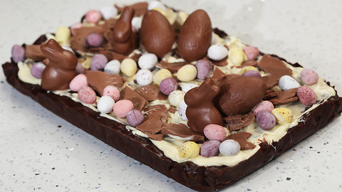 Paul A. Young's chocolate simnel slice recipe