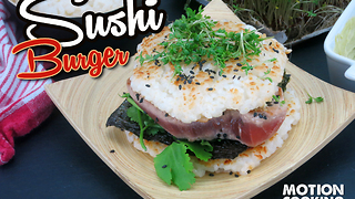 How to make a sushi burger - Video