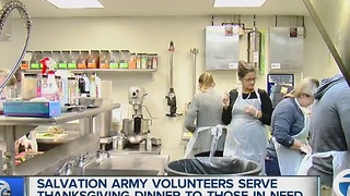 Millenials join together to serve the community with the Salvation Army
