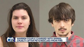 Warren couple charged with animal cruelty after pets rescued from fire