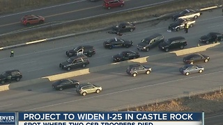 State to widen I-25 in area where troopers were killed - Video