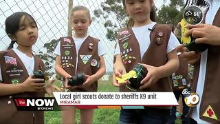 Local Girl Scouts donate to Sheriff's K9 unit - Video