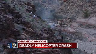 Three killed in Grand Canyon helicopter crash - Video