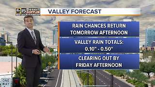 More rain expected for the Valley - Video