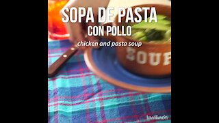 Pasta Soup with Chicken