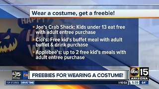 Get freebies for wearing a costume on Halloween