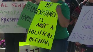 People gather for immigration rally in Appleton - Video