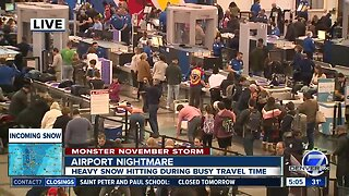 Thanksgiving travel week kicks off as winter weather moves in