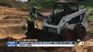 Community rallies for makeshift bike track