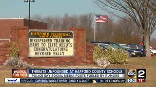Threats unfounded at Harford County Schools - Video