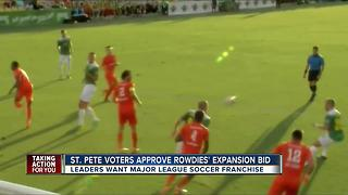 St. Pete residents vote in favor of Rowdies stadium expansion - Video