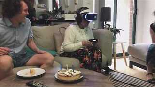 Grandmother Trying VR for First Time Is Not What You Expect - Video