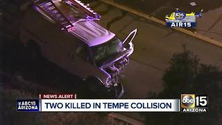 Two people killed in Tempe crash - Video