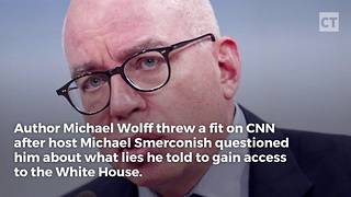 Michael Wolff Throws Fit On Cnn - Video