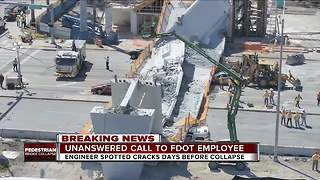 FDOT warned about FIU bridge cracking 2 days before fatal collapse - but didn't hear voicemail - Video
