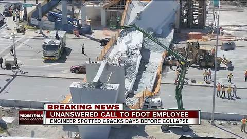 FDOT warned about FIU bridge cracking 2 days before fatal collapse - but didn't hear voicemail