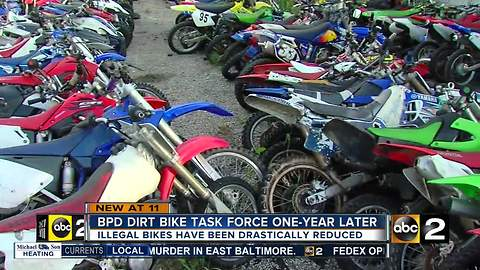 There are fewer illegal dirt bikes and 4 wheelers cruising the streets of Charm City