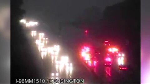 20-30 vehicles involved in pileup on westbound I-96 near Kensington Road