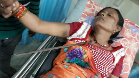 Woman miraculously survives after 5-foot-long iron rod impales her chest and comes out of neck