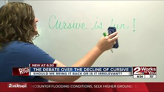 The debate over the decline of cursive