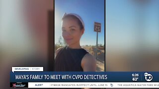 Maya Millete's family to meet with CVPD detectives