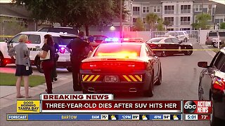 3-year-old Pasco County girl dies after being hit by car